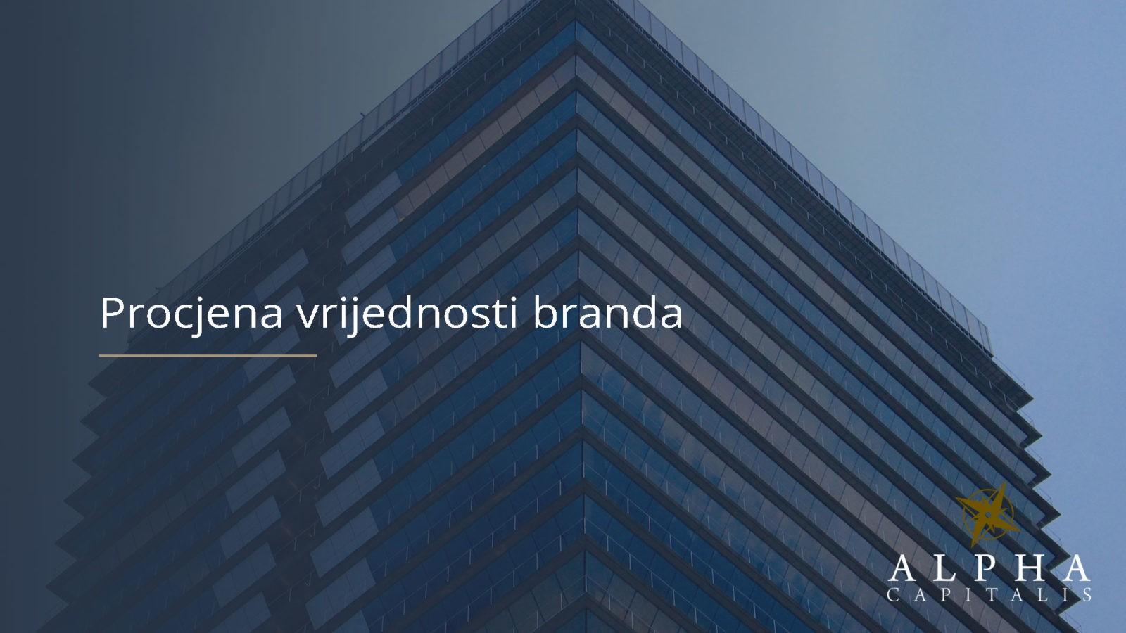 Procjena vrijednosti branda - Procjena vrijednosti branda