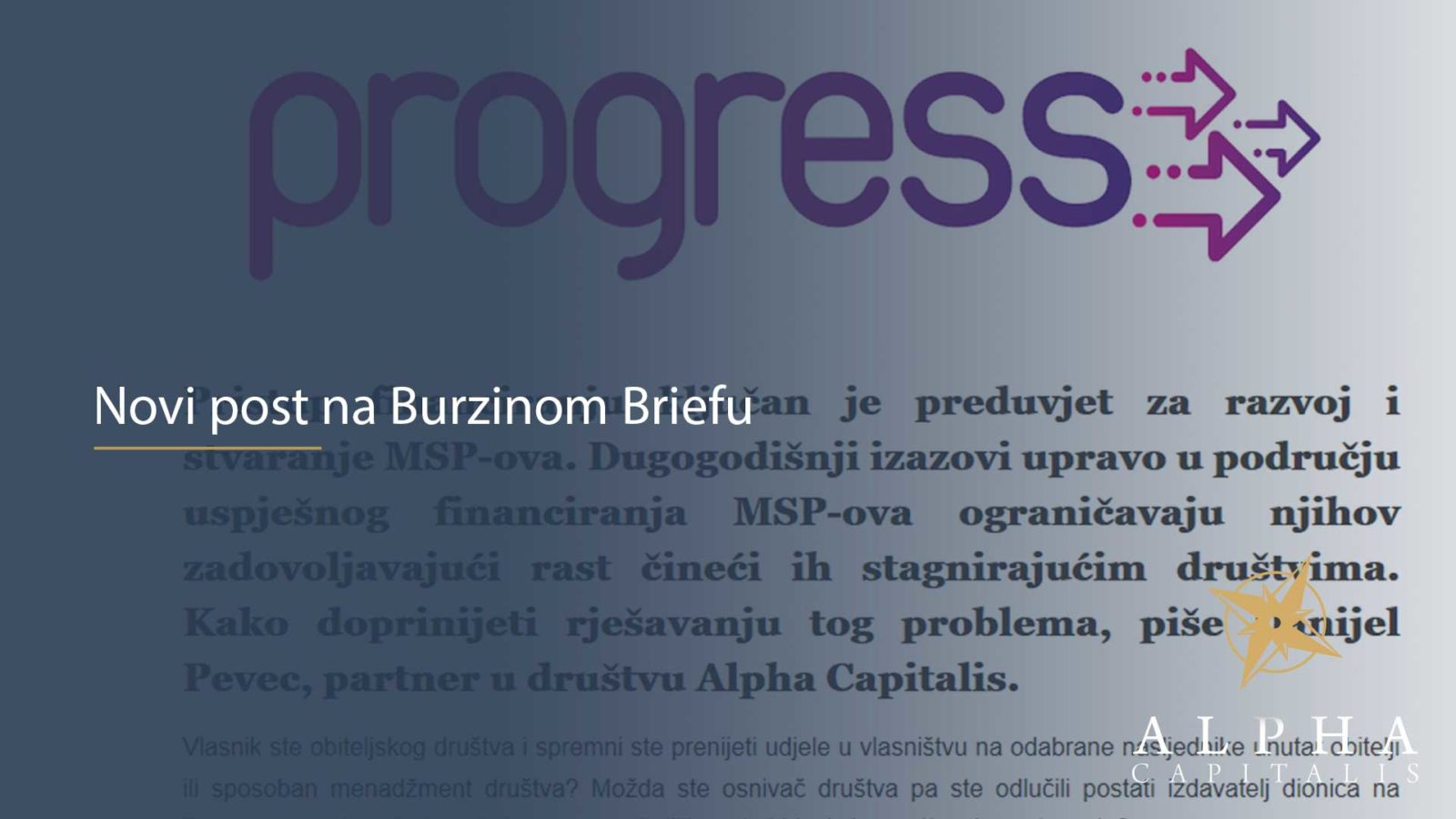 zseblog 03 - Novi post na Burzinom Briefu