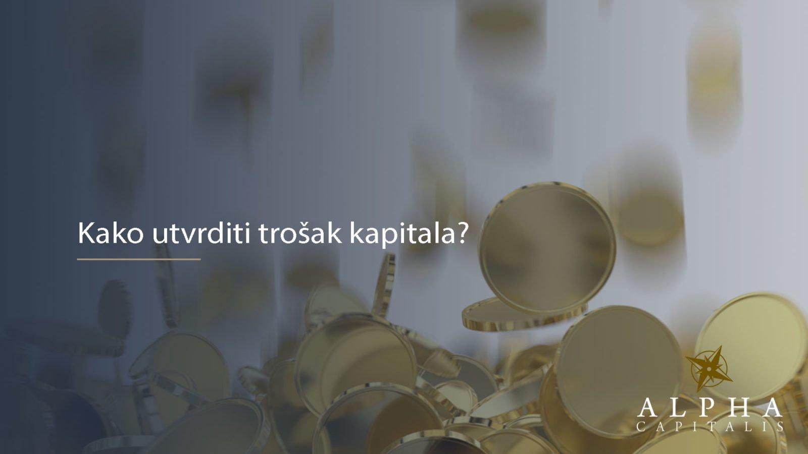 Trošak kapitala 2019 06 26 - Kako utvrditi trošak kapitala?