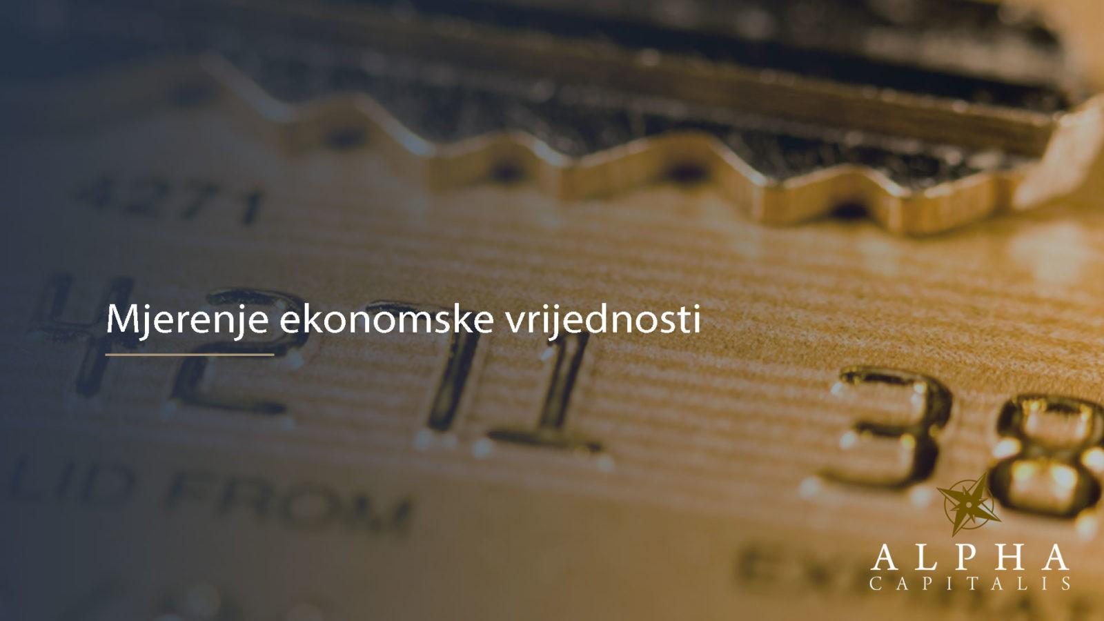 Mjerenje ekonomske vrijednosti 2019 07 18 - Mjerenje ekonomske vrijednosti