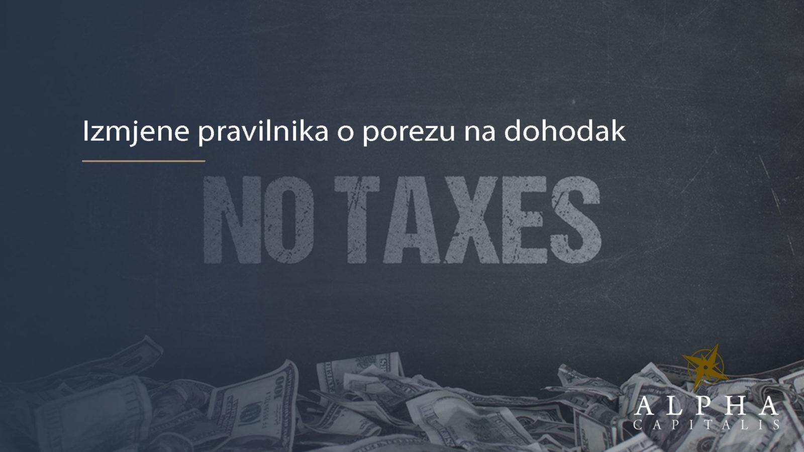 Izmjene pravilnika o porezu na dohodak - POREZI: Izmjene pravilnika o porezu na dohodak -> primjena 01.09.2019.