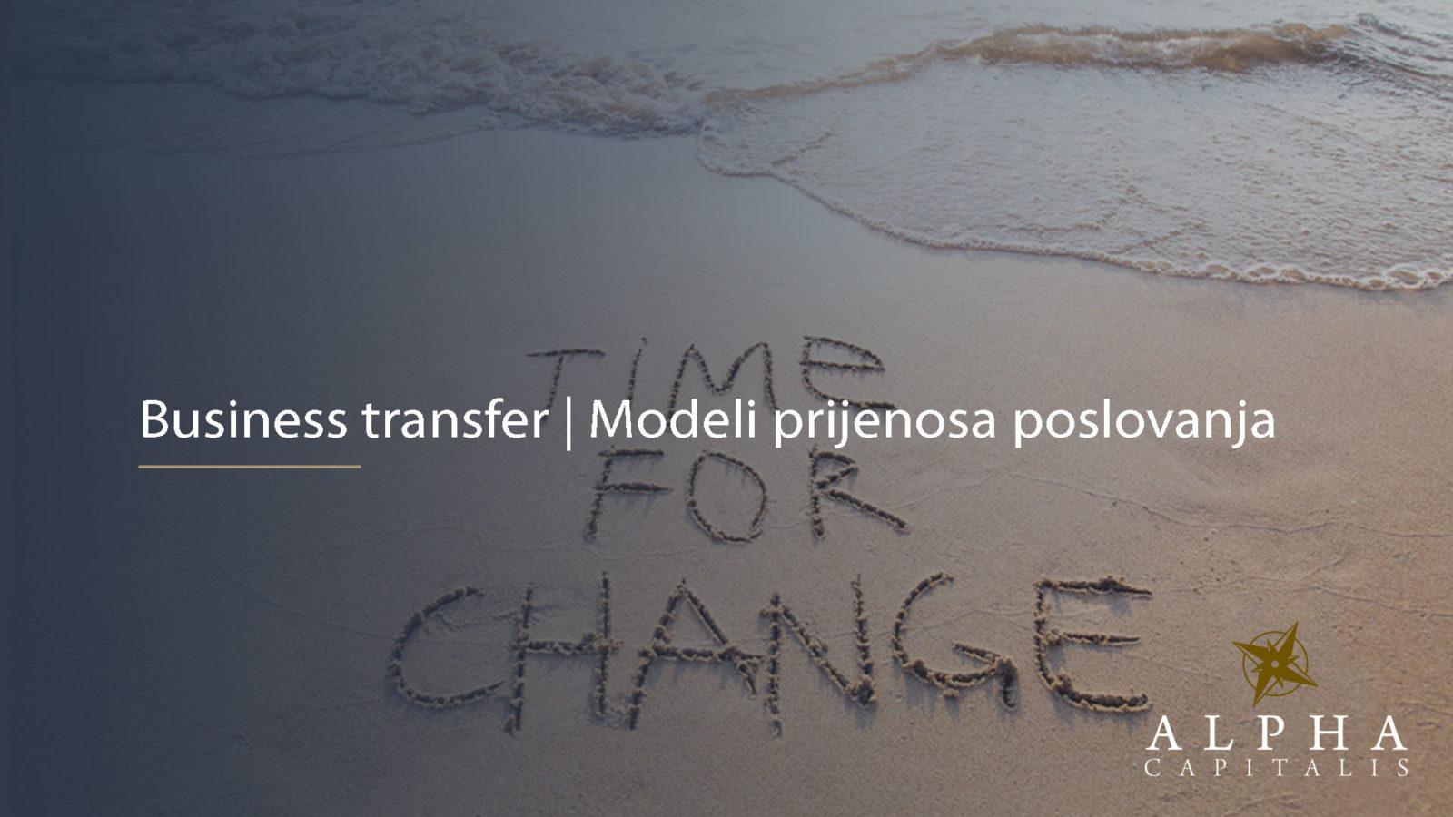 Business transfer 2019 11 07 - Modeli prijenosa poslovanja