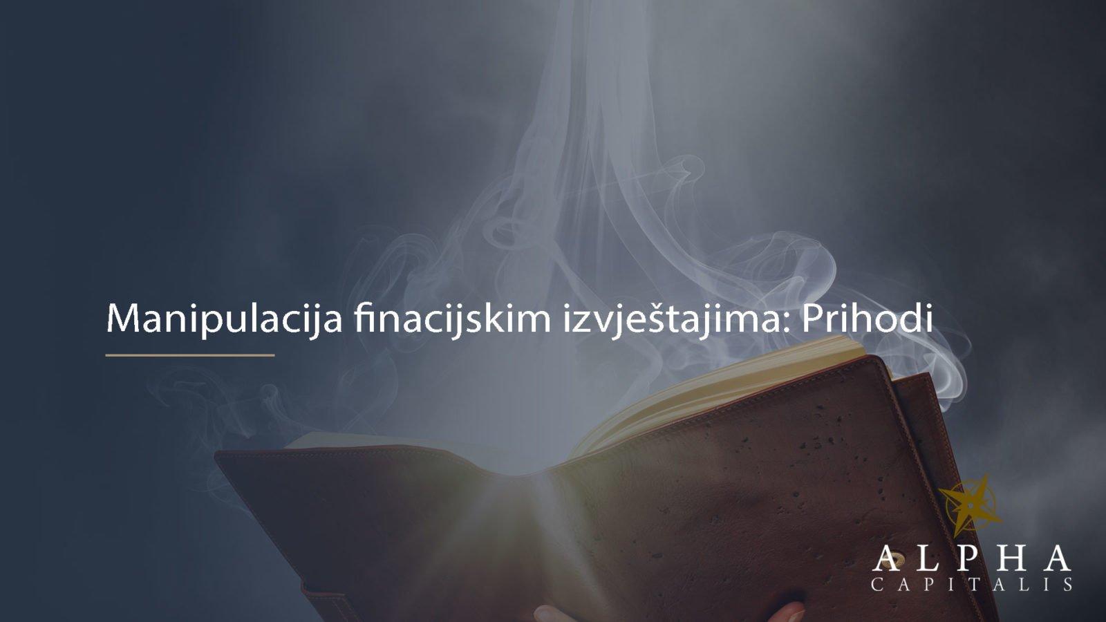 Manipulacija fin.izvjestajima prihodi 2019 11 10 - Manipulacije fin.izvještajima: Tehnike otkrivanja nepravilnosti u priznavanju prihoda