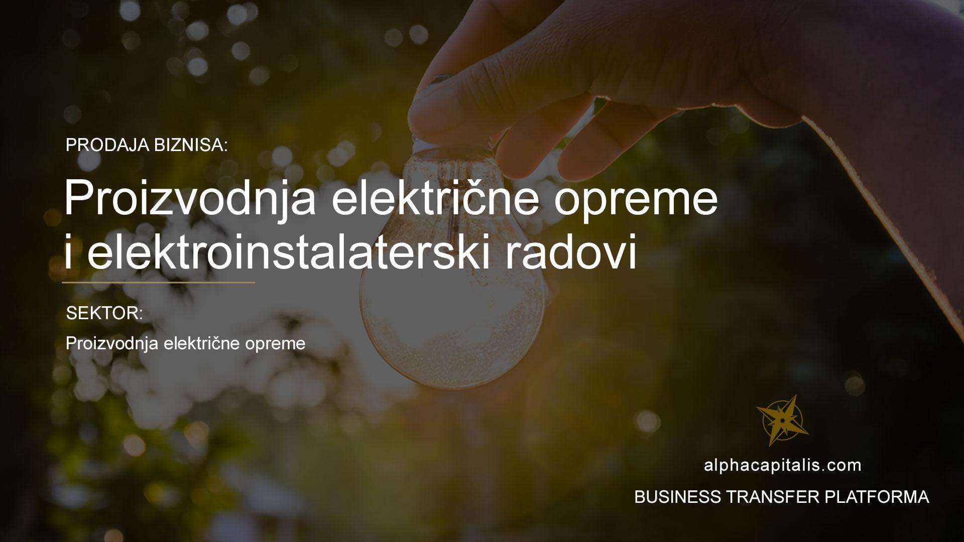 alpha-capitalis-business-transfer-platforma-prodaja-električna-rasvjeta
