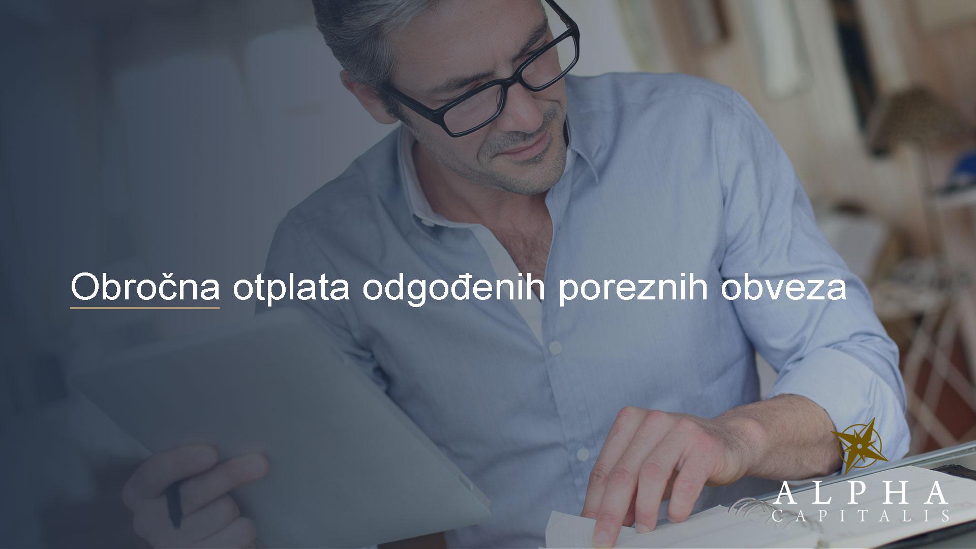 Alpha capitalis-novosti-porezne obveze