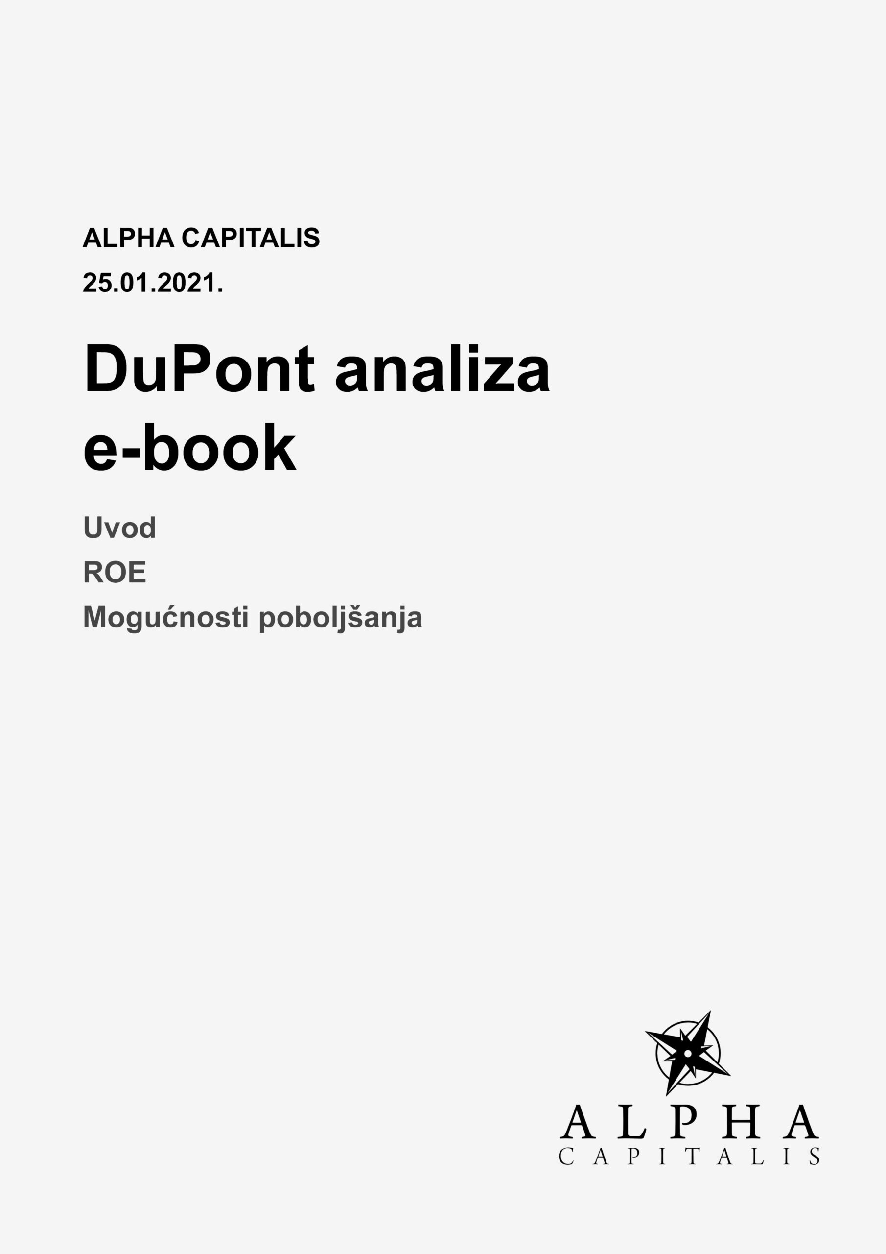 DuPont analiza